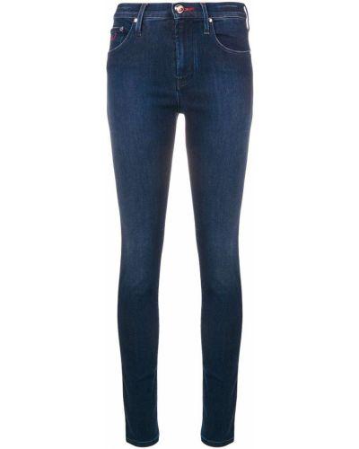 Синие зауженные джинсы-скинни с поясом Jacob Cohen