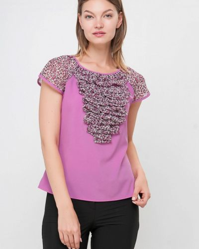 Блузка с коротким рукавом розовая Лимонти