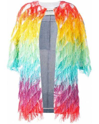 Джинсовая куртка с бахромой укороченная Ava Adore