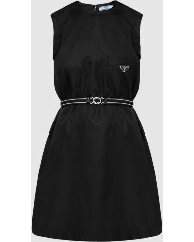 Черное платье мини Prada