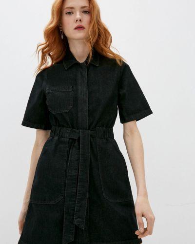 Черное джинсовое платье French Connection