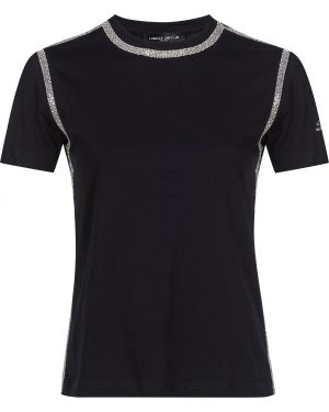 Хлопковая футболка - черная Frankie Morello