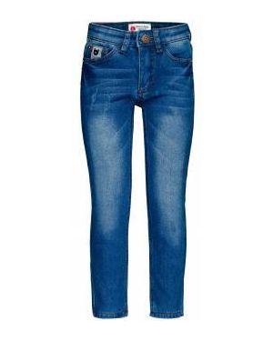 Флисовые базовые синие джинсы с подкладкой Button Blue