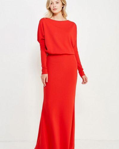 Платье красный осеннее Sk-house