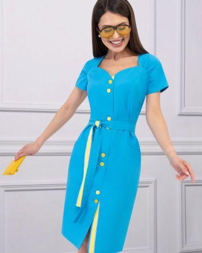 Короткое большое платье в морском стиле Charutti
