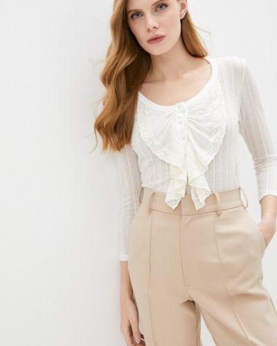 Белая блузка с длинным рукавом с длинными рукавами Imperial