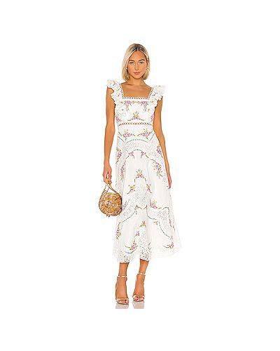 Платье макси с вышивкой на молнии Zimmermann