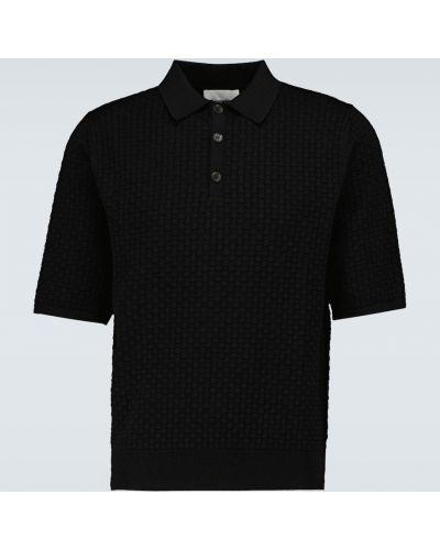 Рубашка из вискозы - черная Nanushka