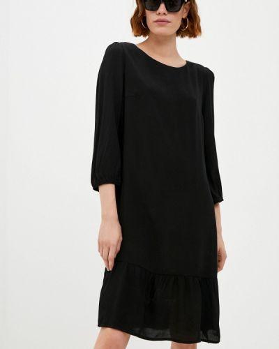 Черное прямое платье Raya