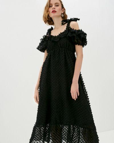 Черное платье с открытыми плечами Sister Jane
