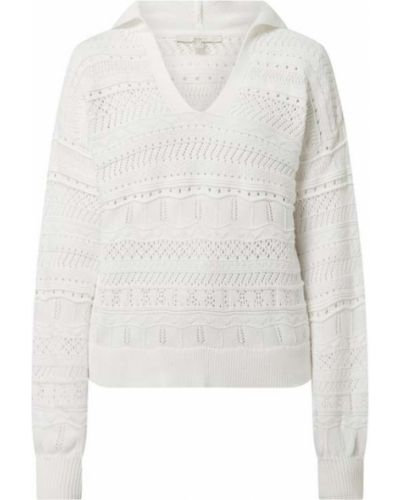 Ażurowy biały sweter bawełniany Edc By Esprit