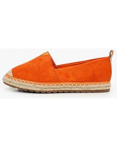 Оранжевые текстильные эспадрильи Queen Vivi
