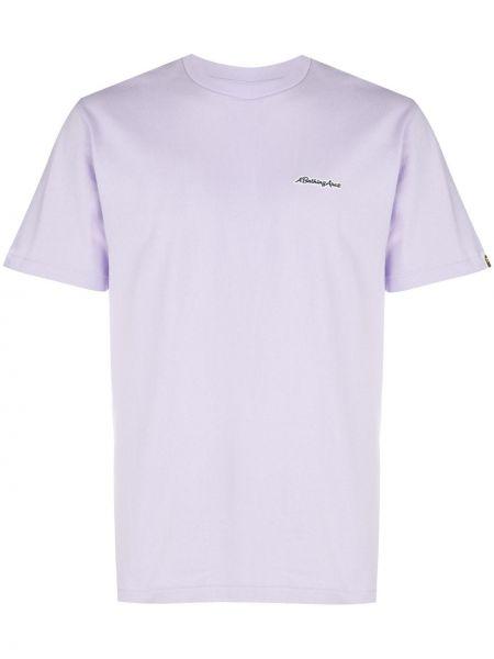 Koszula krótkie z krótkim rękawem karmazynowy z nadrukiem Bape
