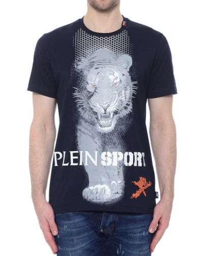 Синяя футболка Plein Sport