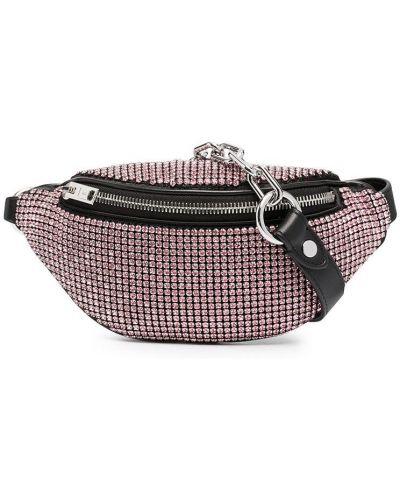 Розовая кожаная поясная сумка на молнии Alexander Wang