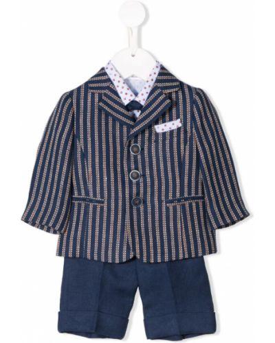 Костюм с карманами синий Colorichiari