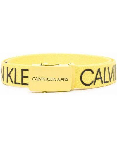 Pasek z klamrą - czarny Calvin Klein Kids