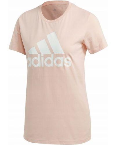 Bawełna bawełna t-shirt okrągły Adidas