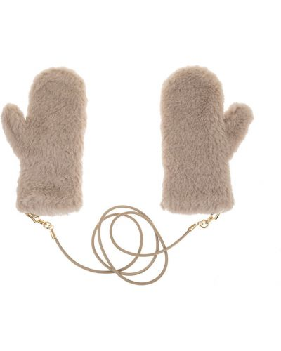 Beżowe rękawiczki Max Mara