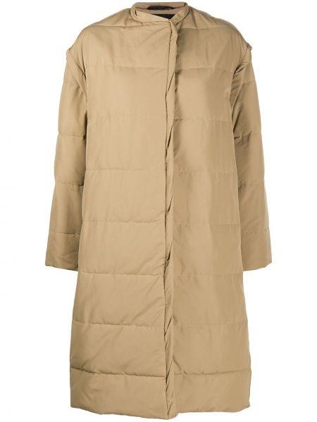 Хлопковое бежевое длинное пальто оверсайз Givenchy