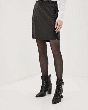 Кожаная юбка черная Sh