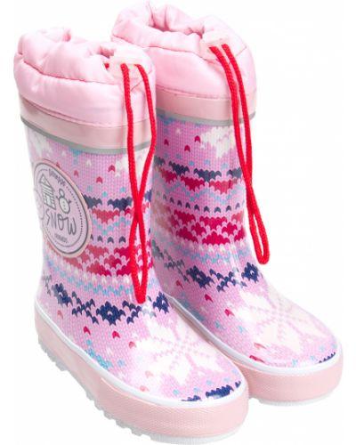 Текстильные розовые сапоги Gioseppo