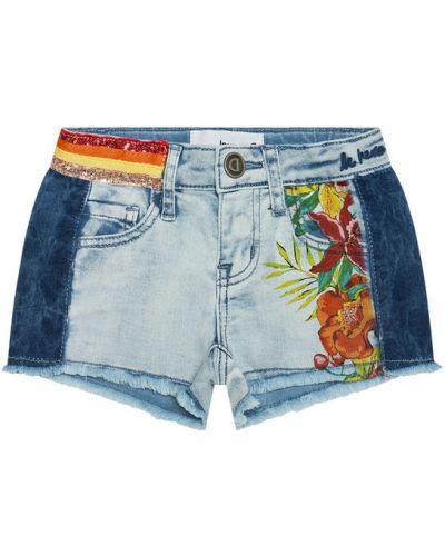Szorty jeansowe - niebieskie Desigual