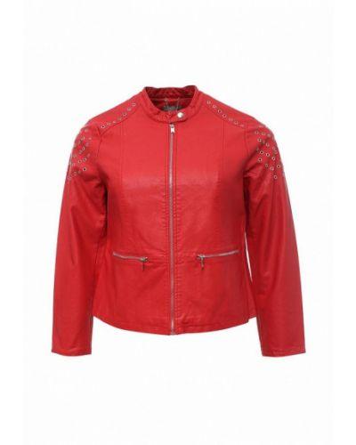 Кожаная куртка весенняя красная Fiorella Rubino
