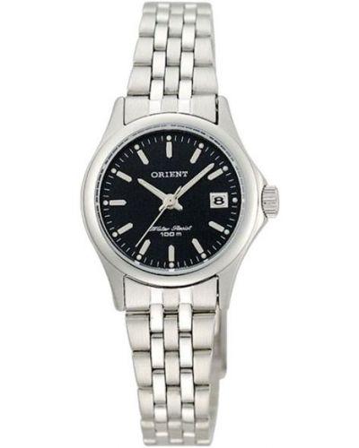 Водонепроницаемые часы черные с подсветкой Orient