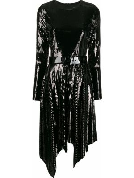 Расклешенное платье миди с пайетками на молнии с вырезом Michael Michael Kors