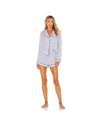 Пижамный шелковый купальник с поясом на шнурках Rails