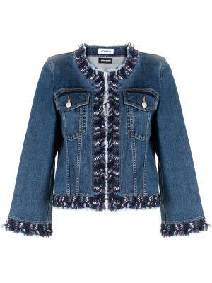 Синяя нейлоновая джинсовая куртка круглая с круглым вырезом Coohem