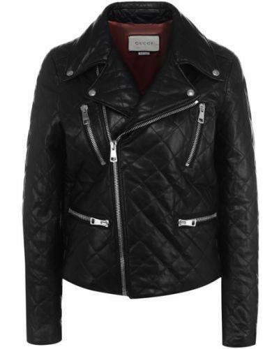 Черная стеганая куртка Gucci