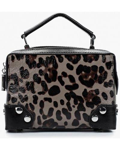 Кожаная сумка через плечо черная Baggini