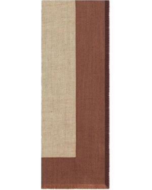 Klasyczny brązowy etola wełniany Gucci