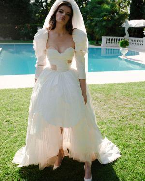 Свадебное платье на пуговицах со вставками Moschino