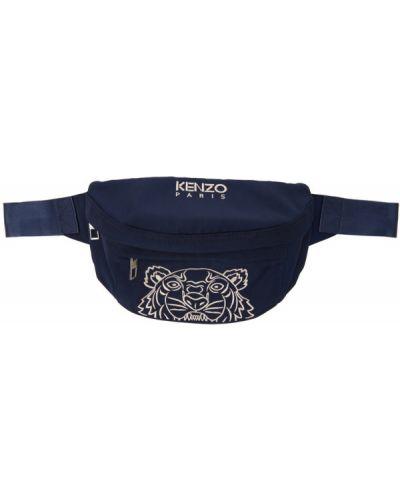 Черная косметичка с вышивкой с подкладкой Kenzo