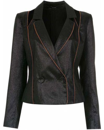 Однобортный черный классический пиджак с подстежкой Tufi Duek