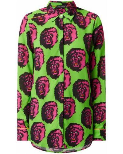 Zielona bluzka z długimi rękawami z wiskozy Risy & Jerfs