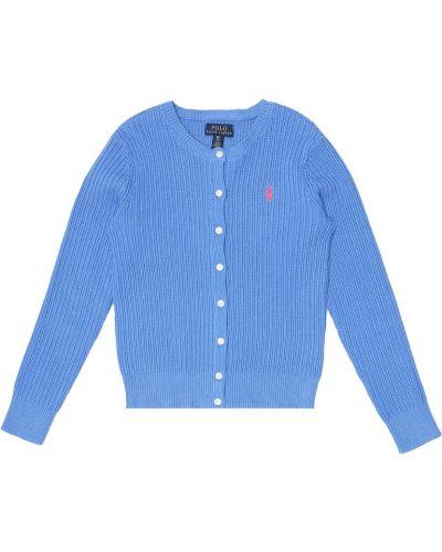 Światło bawełna bawełna niebieski kardigan Polo Ralph Lauren Kids