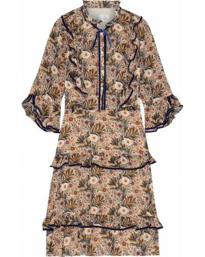 Бархатное платье с подкладкой с манжетами Mikael Aghal