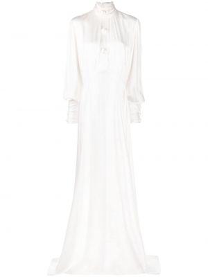 Satynowa sukienka - biała Christopher Kane