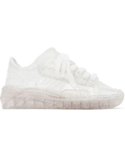 Кроссовки на каблуке - белые Gcds