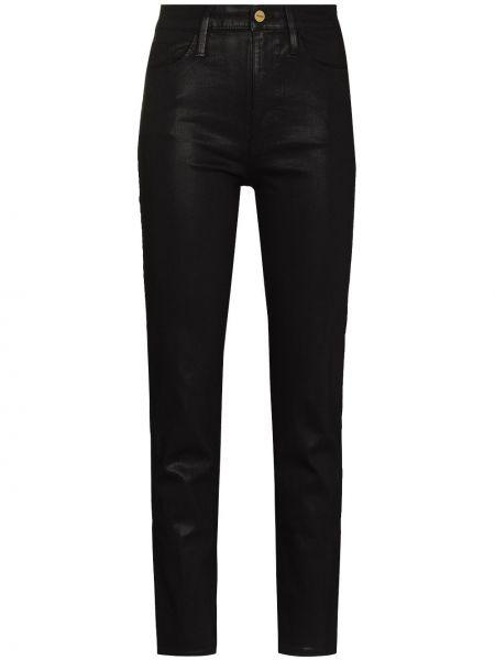 Облегающие зауженные джинсы - черные Frame