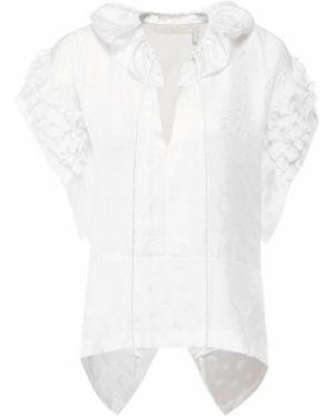 Блузка шелковая белая Chloé