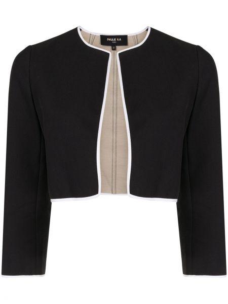 Хлопковая ватная черная куртка Paule Ka