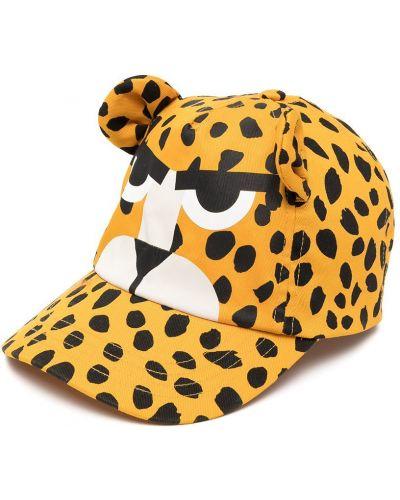 Ватная желтая хлопковая кепка Stella Mccartney Kids