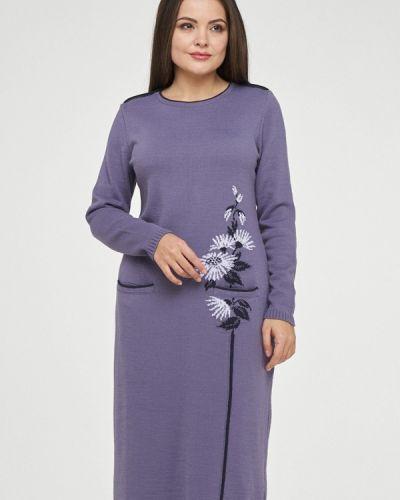 Платье миди осеннее фиолетовый Vay