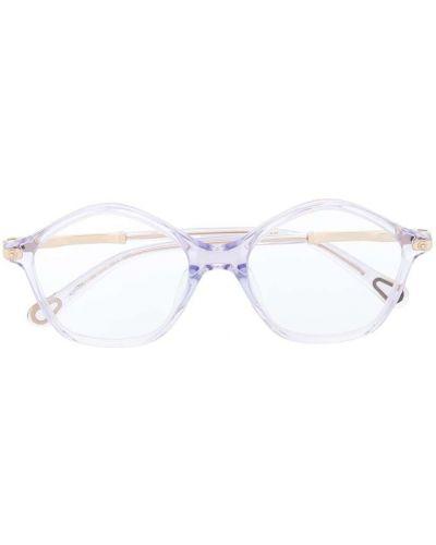 Солнцезащитные очки круглые хаки прозрачные Chloé Kids