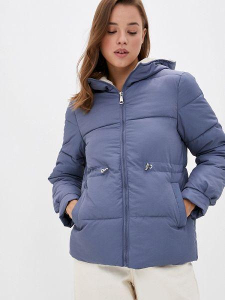 Теплая синяя утепленная куртка Grand Style